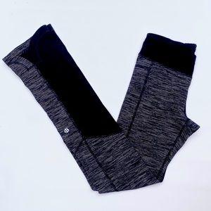 Lululemon black gray leggings grove pants size 4